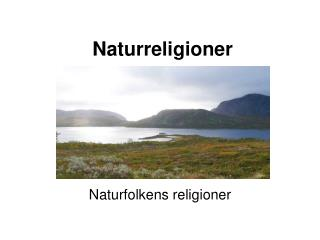 Naturreligioner