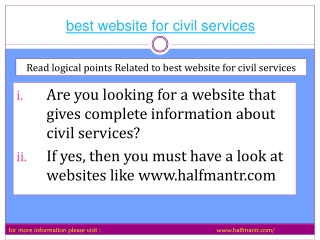 full information about best website for civil services