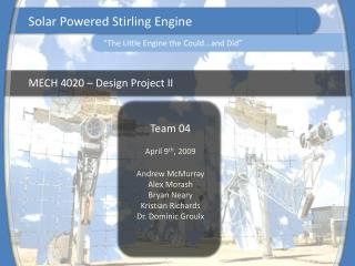 MECH 4020   Design Project II