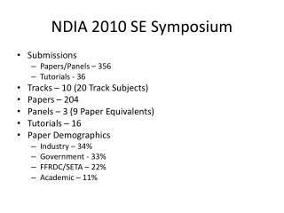 NDIA 2010 SE Symposium