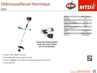 D broussailleuse thermique 1033