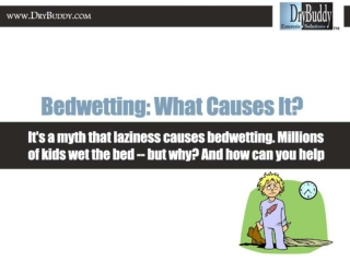 Bed Wetting: What causes it?
