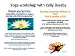 Yoga workshop with Kelly Baraby