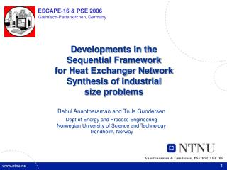 Developments in the  Sequential Framework  for Heat Exchanger Network  Synthesis of industrial  size problems