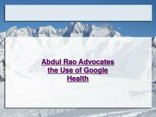 Abdul Rao