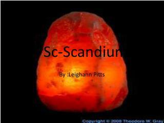 Sc-Scandium