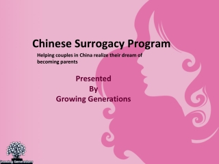 Helping Couples in China Realize their Dream of Becoming Par