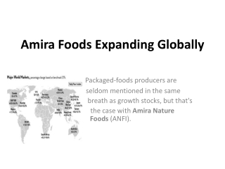 Amira Foods Expanding Globally