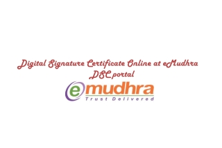 Get Digital Signature Certificate Online at eMudhra