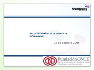 Accesibilidad en el acceso a la informaci n