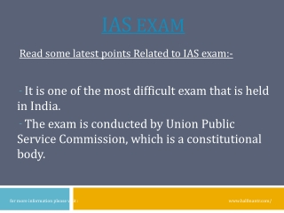 IAS Exam is the best exam in India