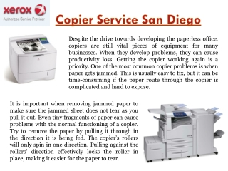 Copier Service In San Diego