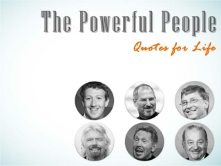 The Powerful People - Quotes for Life