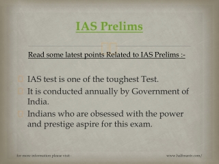 IAS Prelims test series is conducted by many coachings