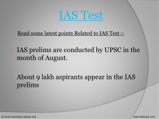 We provide best test series for IAS test