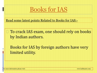 Get full feel of the about Books for IAS