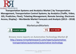 2018 Transportation Systems and Analytics Market
