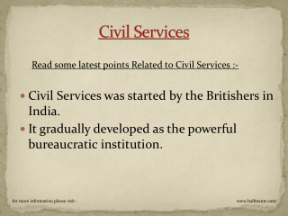 Get complete information about civil services