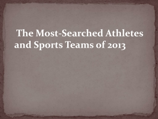 Most Searched Athletes