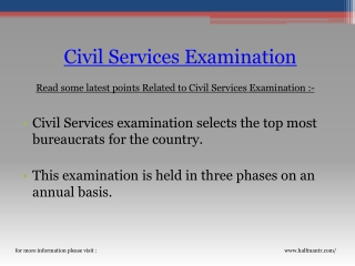 The best website for civil services examination