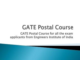 GATE Postal Course