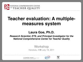 Teacher evaluation: A multiple-measures system