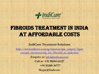 Fibroids Treatment in India at affordable costs