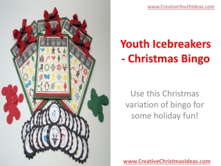 Youth Icebreakers - Christmas Bingo