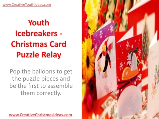 Youth Icebreakers - Christmas Card Puzzle Relay