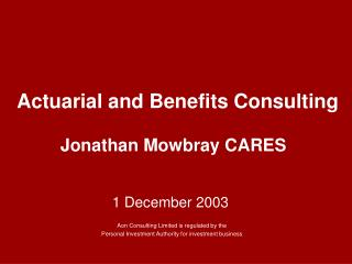 Actuarial and Benefits Consulting