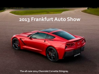 2013 Frankfurt Auto Show: Six hot car launches