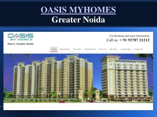 Oasis Myhomes Greater Noida Apartments/Flats with Affordabal