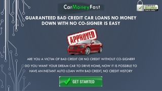 Pre Approval Bad Credit Auto Loans With No Co-signer For Low