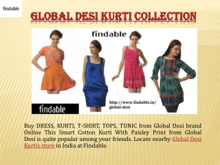 Global Desi India Apparels for Women