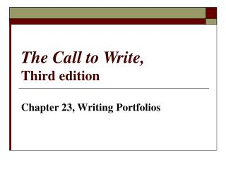 The Call to Write, Third edition