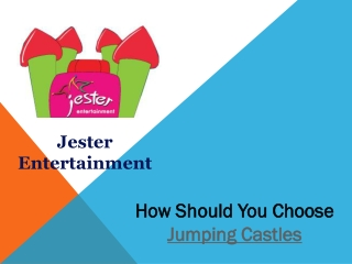 How Should You Choose Jumping Castles