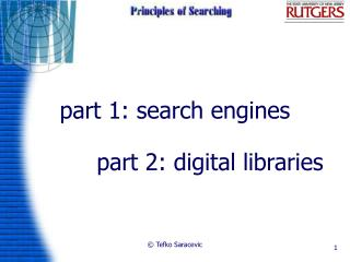Part 1: search engines
