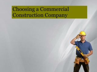 Choosing a Commercial Construction Company