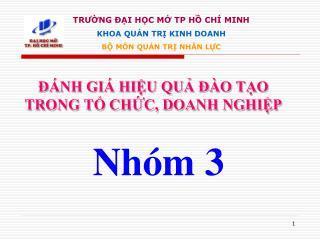NH GI  HIU QU   O TO TRONG T CHC, DOANH NGHIP