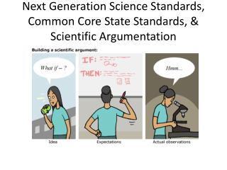 Next Generation Science Standards, Common Core State Standards,  Scientific Argumentation