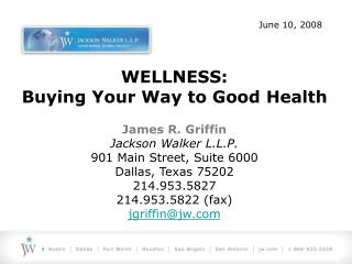 wellness: buying your way to good health
