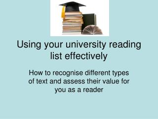 Using your university reading list effectively