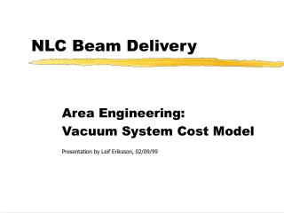 NLC Beam Delivery