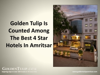 Golden Tulip Is Counted Among The Best 4 Star Hotels In Amri