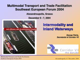 Intermodality and Inland Waterways