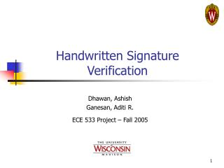 handwritten signature verification