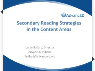 Secondary Reading Strategies in the Content Areas