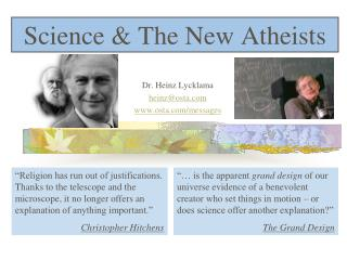 Science  The New Atheists