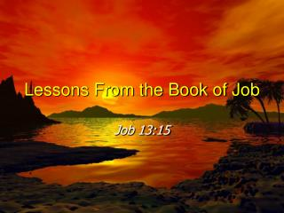 lessons from the book of job