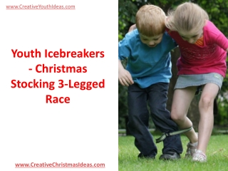 Youth Icebreakers - Christmas Stocking 3-Legged Race